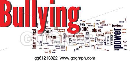 Stock illustration cloud illustrations. Bullying clipart word