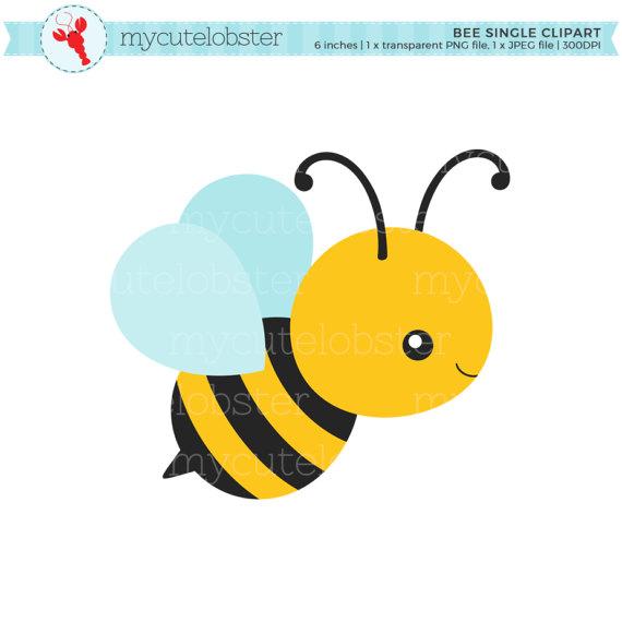 Bumblebee clipart adorable. Bee single clip art