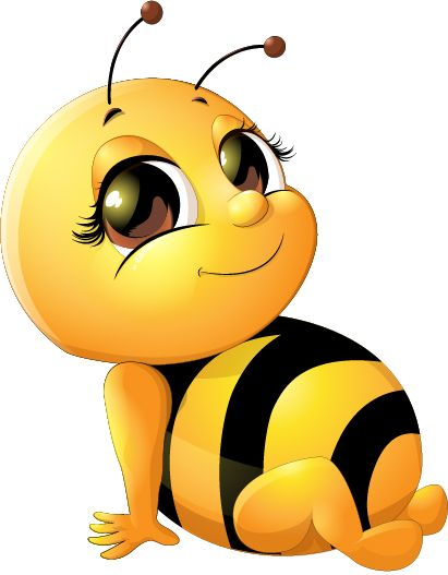 Bee baby cute vector. Bees clipart adorable