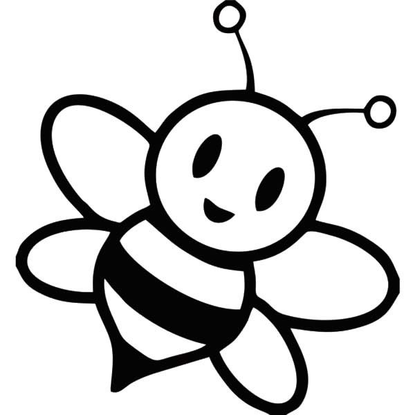 Free cute clip art. Bee clipart black and white