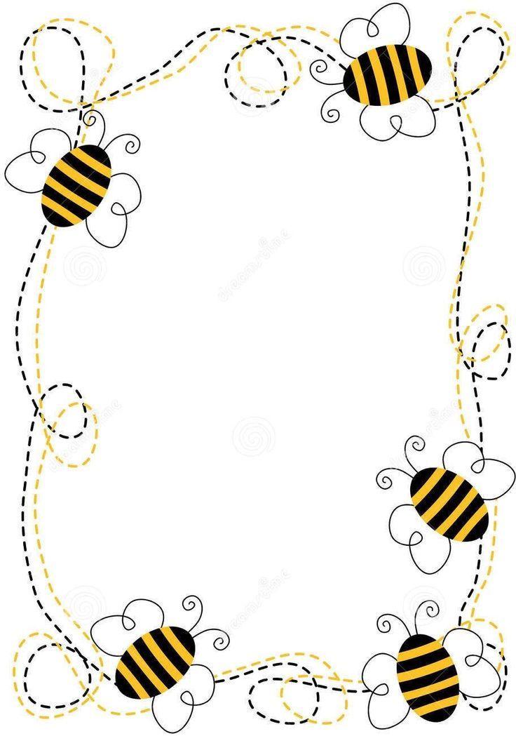 Lovelies cute doodle bee. Bees clipart borders