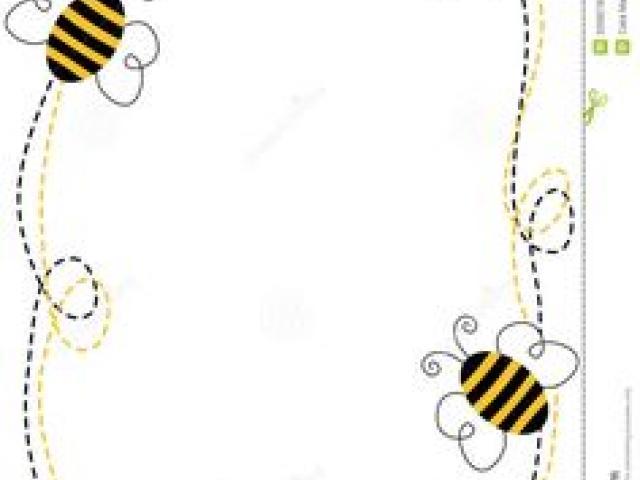 Bumblebee clipart border. Free download clip art