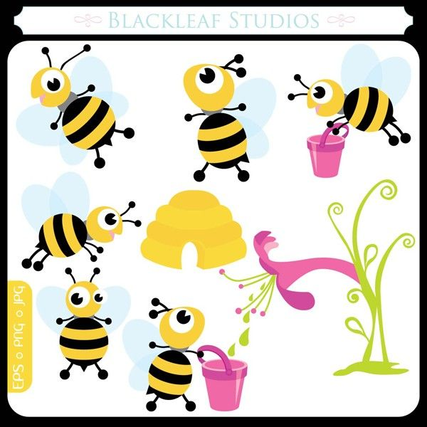 Bumblebee clipart busy bee. Springs baby bees original