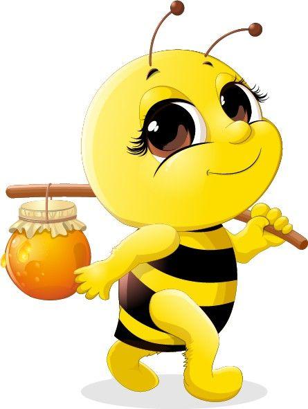 Bumblebee clipart cartoon. Abeille pinterest bees clip