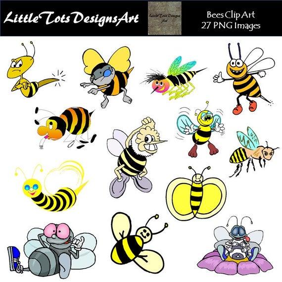 Bumblebee clipart clip art. Bees set cute bumblebees