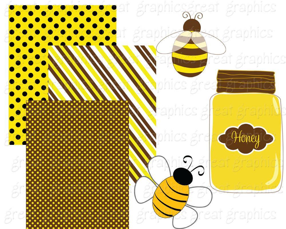 Bumblebee clipart clip art. Bee bumble digital paper