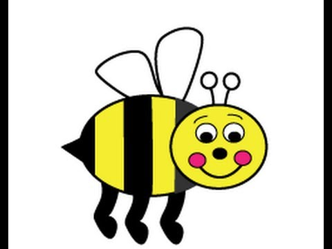 Bumble bee drawing free. Bumblebee clipart easy