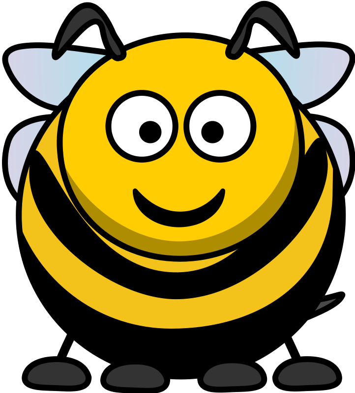 Free bumble bee cartoon. Bumblebee clipart face