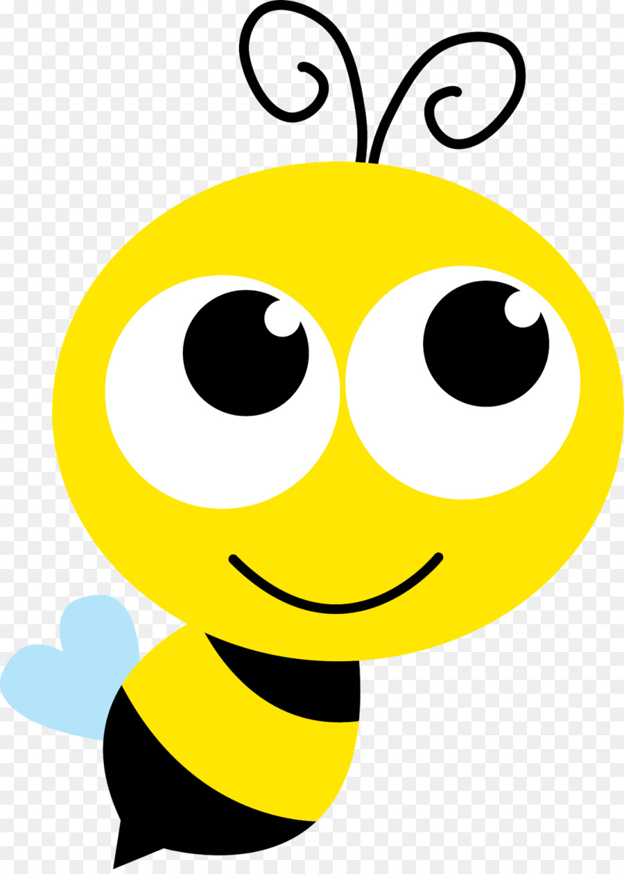 Bumblebee clipart face. Bee cartoon nose emoticon