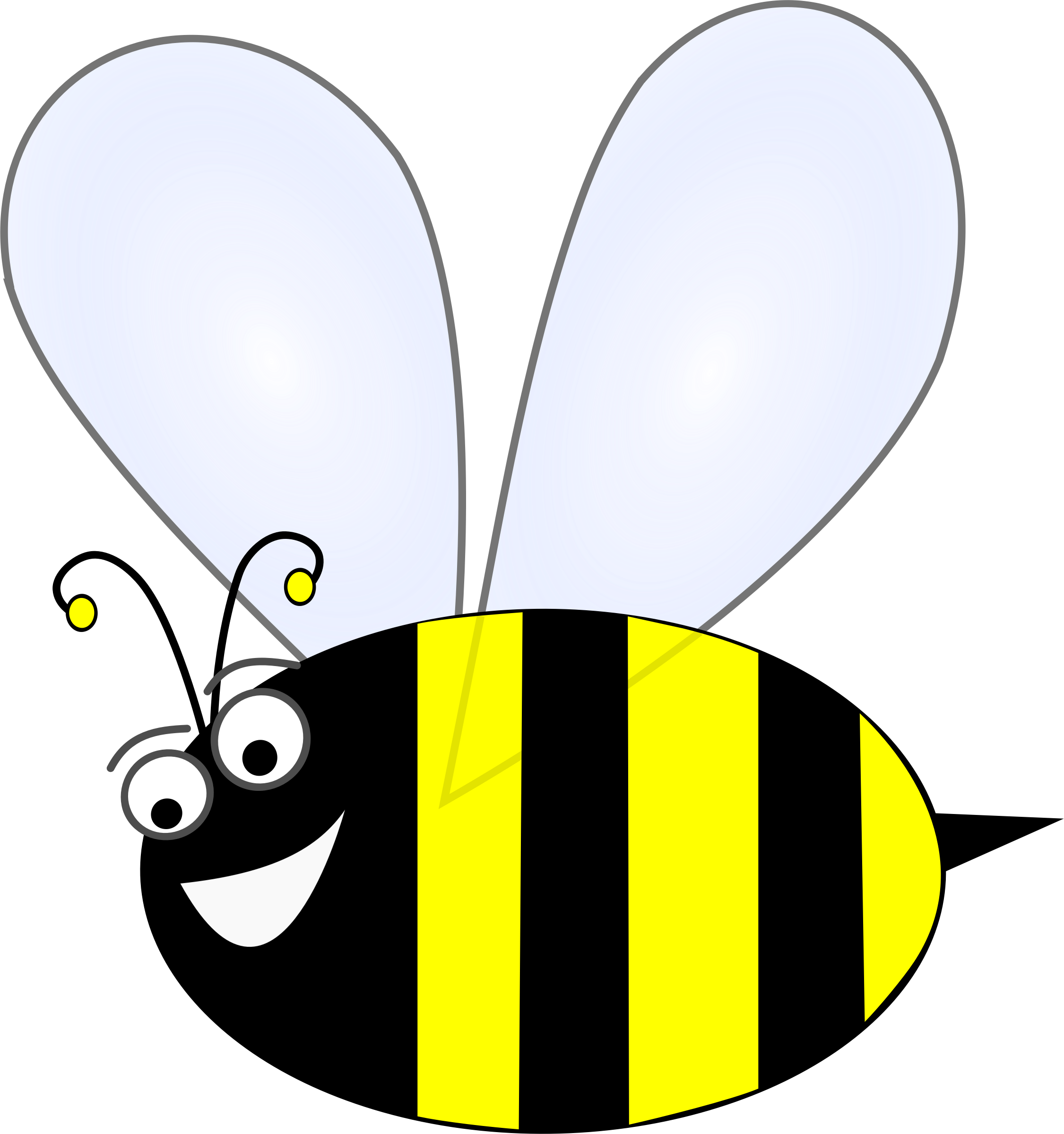 Insect clipart happy. Bee remix big image