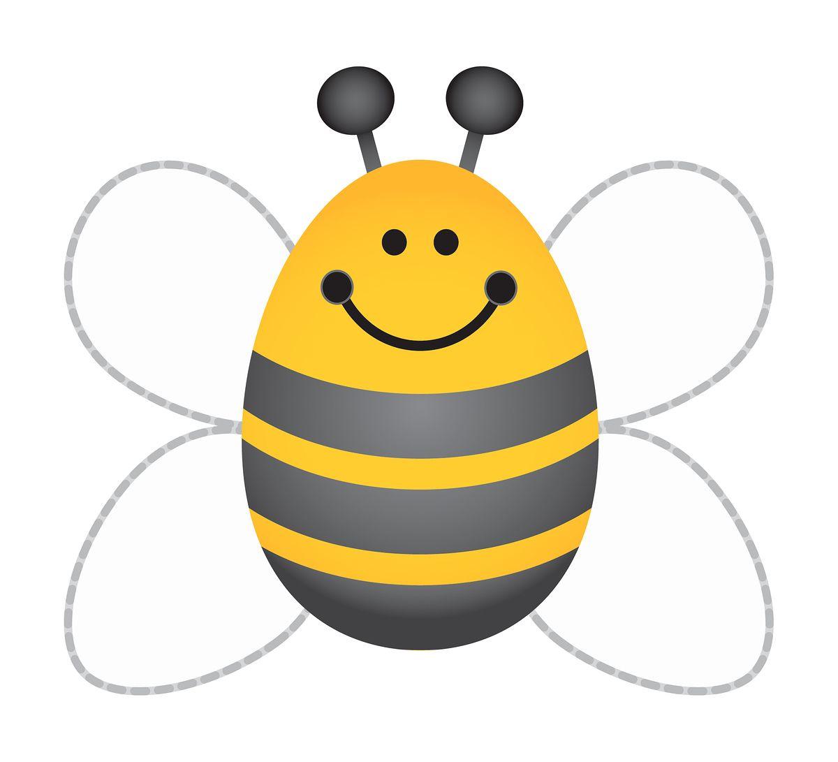 Bumblebee template best insect. Bees clipart preschool