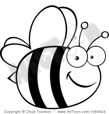 Bumblebee clipart outline. Bumble bee silhouette at