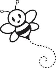 Bumble bee template printable. Bumblebee clipart outline