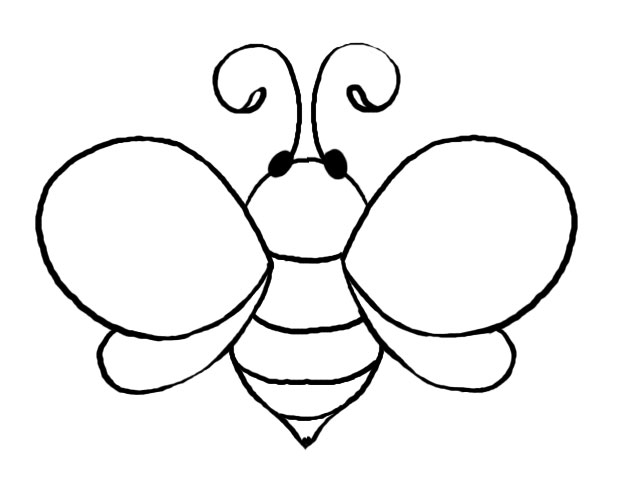 Bumblebee clipart printable. Bumble bee template free