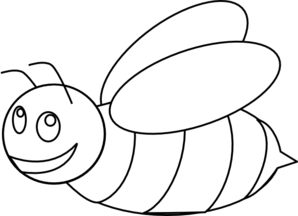 Clipart bee template. Bumble outline clip art