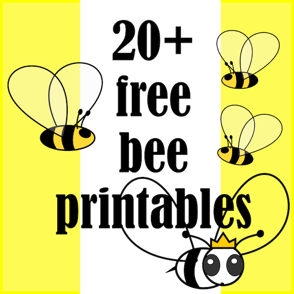 Bumblebee clipart printable.  free bee themed