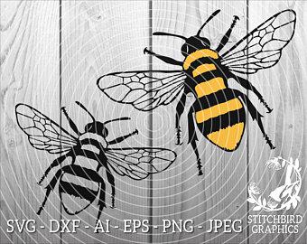 Bee etsy . Bumblebee clipart rustic