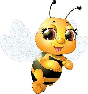 Cute bee cartoon pic. Bumblebee clipart rustic