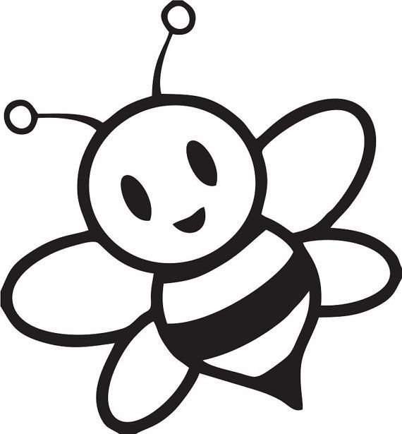 Bees clipart silhouette.  ee d c
