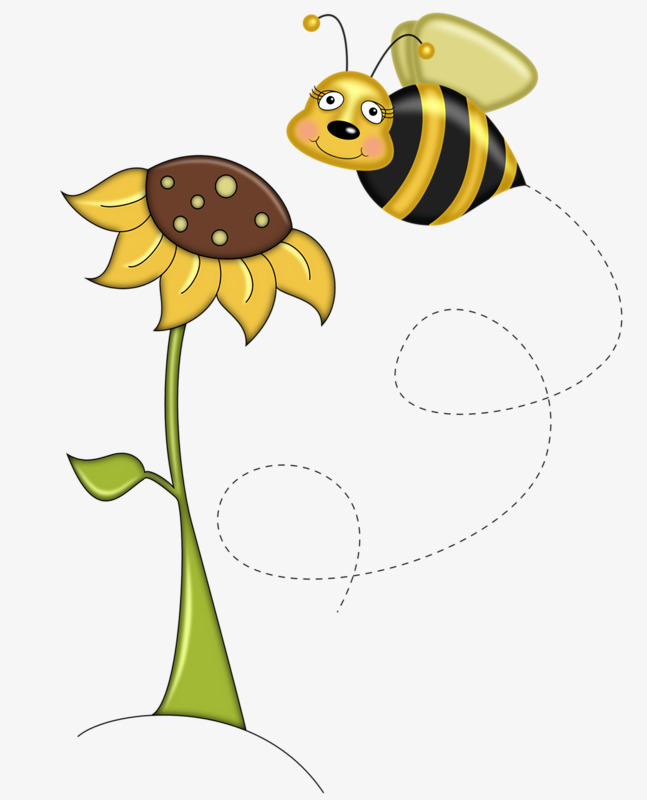 Bumblebee clipart sunflower. Bee and yellow flowers