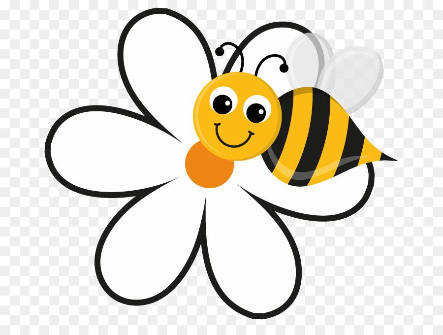 Honey bee flower clip. Bumblebee clipart sunflower