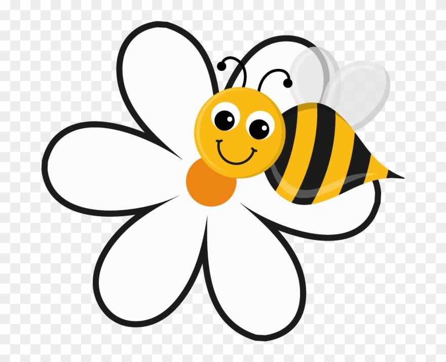 Sunflower busy cartoon on. Clipart bee flower
