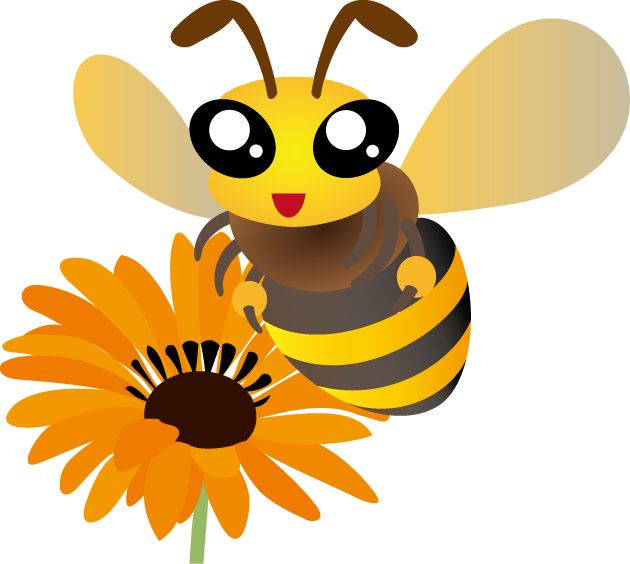 best bees images. Bumblebee clipart sunflower
