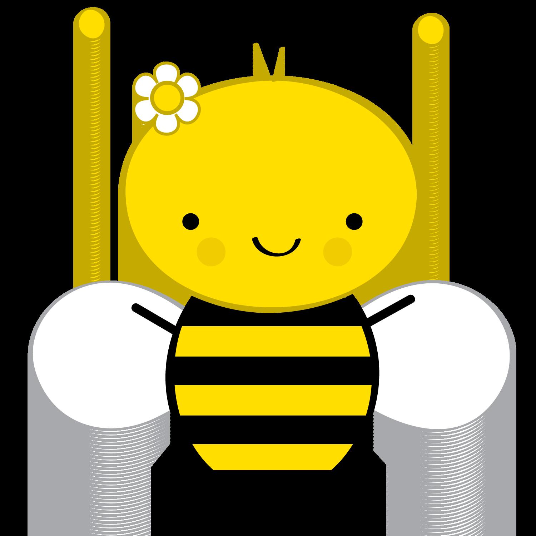 Abelhinhas png minus dibujos. Circle clipart bee