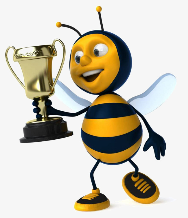 Free bee material buckle. Bumblebee clipart trophy