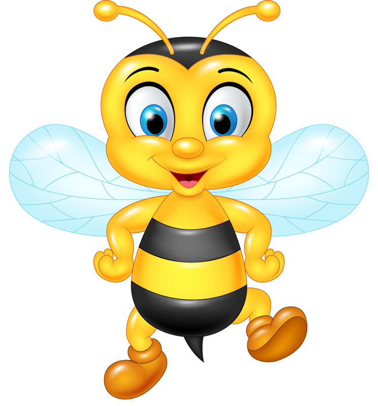Clipart halloween bee. Funny cartoon animals vector