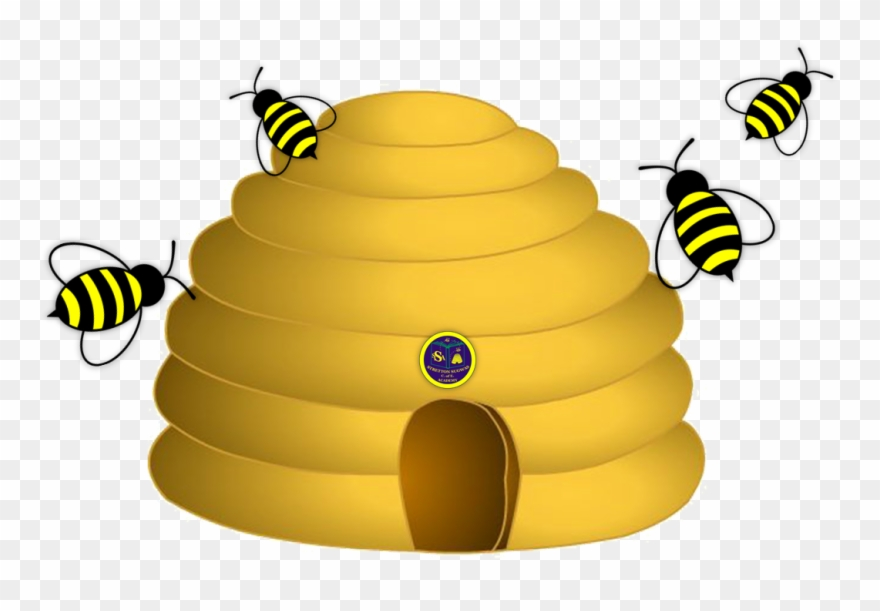 Hive yellow clip art. Honeycomb clipart bumble bee