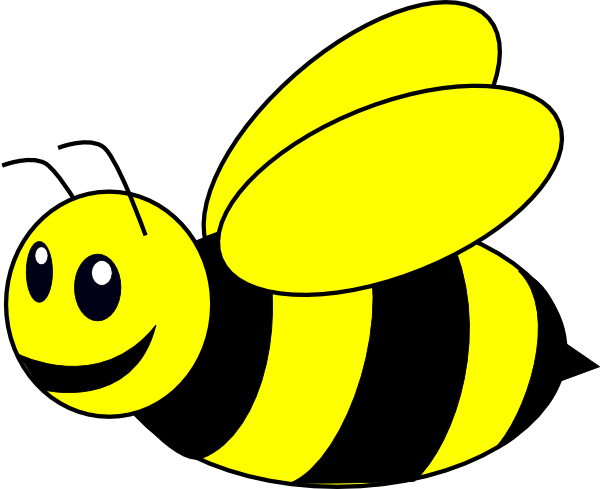 B clipart bee. Bumble yellow clip art