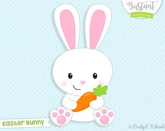 Bunnies clipart. Bunny etsy easter clip