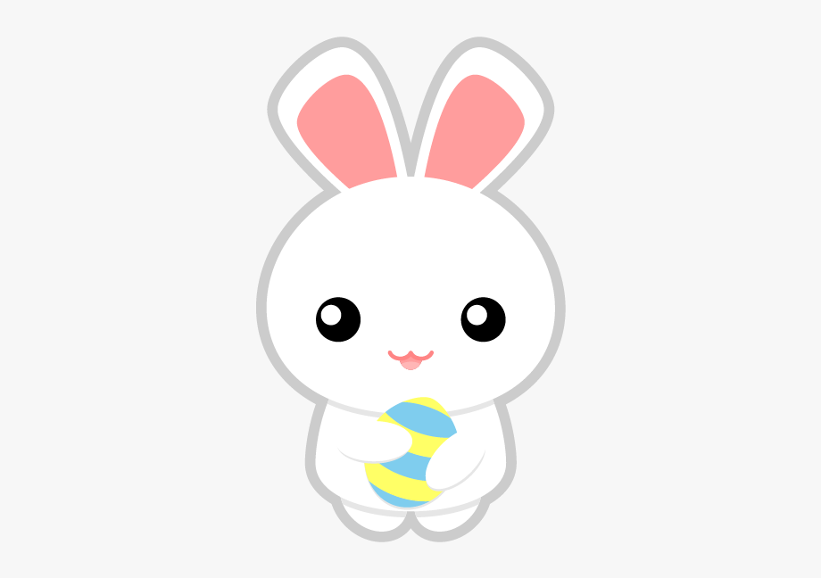 On clip art easter. Clipart bunny adorable