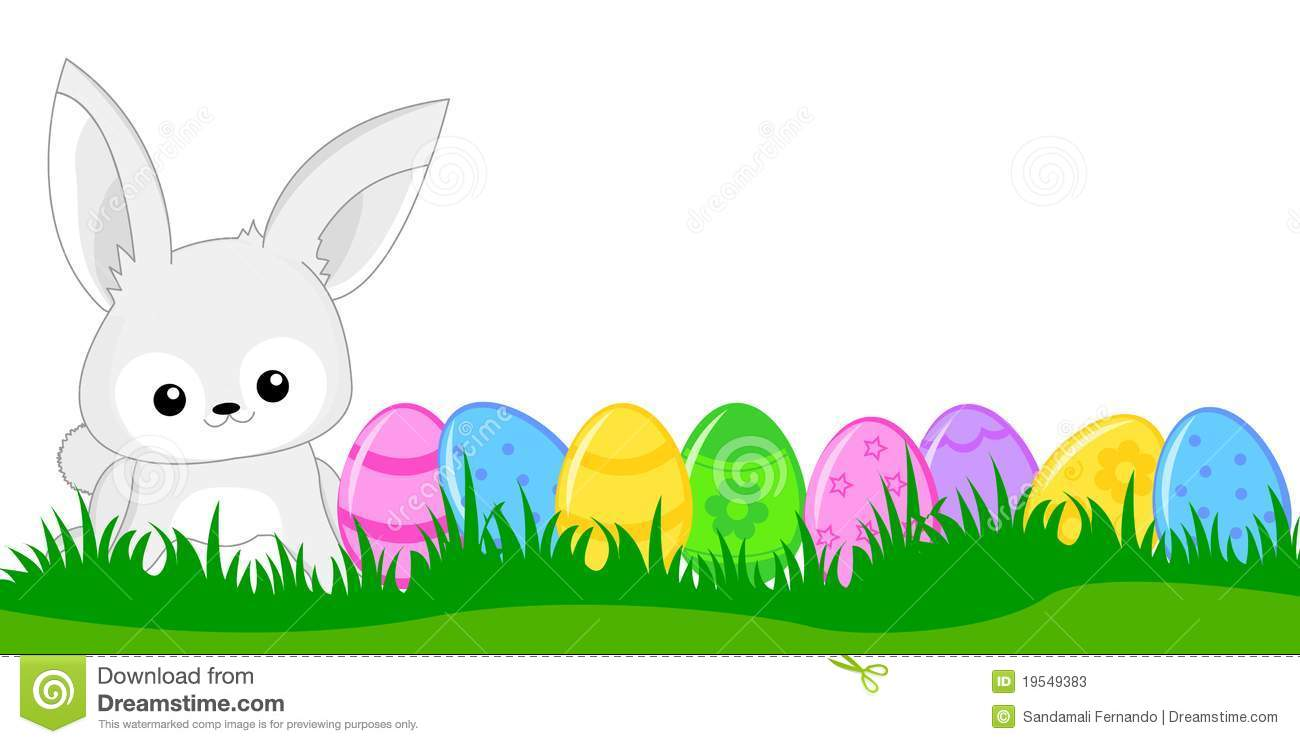Bunnies clipart banner. Happy easter bunny banners