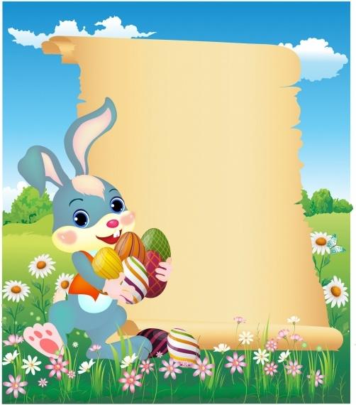 Easter bunny vector free. Bunnies clipart banner