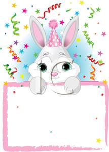 Baby rabbit holding a. Bunnies clipart banner