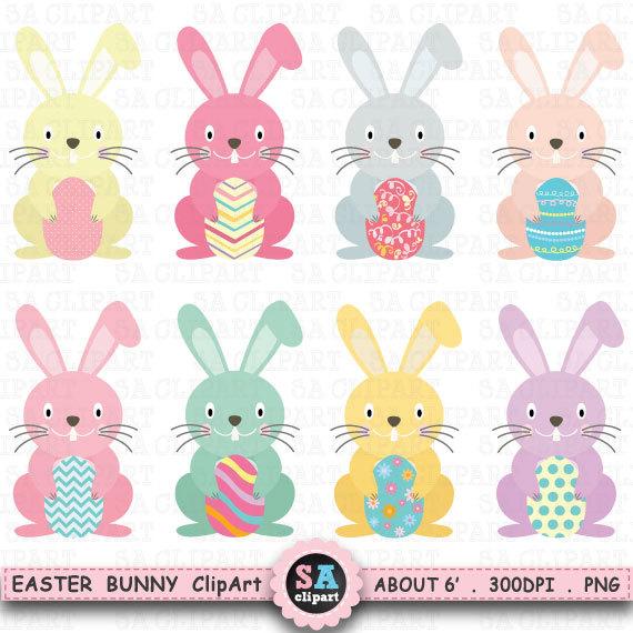 Clip art packeaster . Bunny clipart easter egg