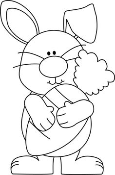 Easter station . Bunny clipart black and white