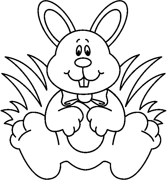Easter letters hd in. Bunny clipart black and white