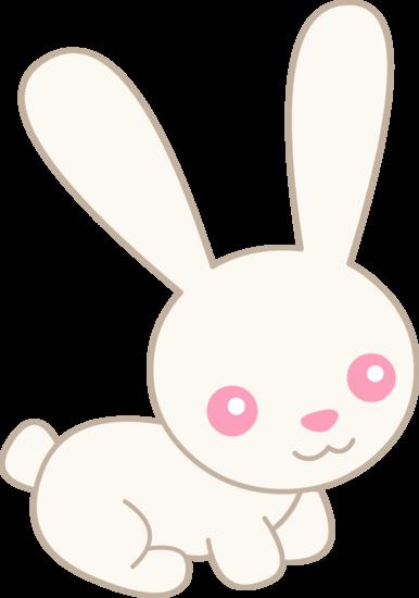 Bunny clipart colored. Cute white albino free
