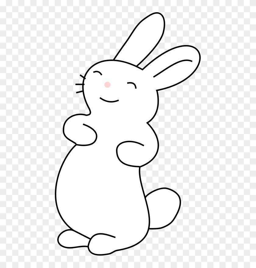 Bunny clipart clip art. Easter cute sitting rabbit