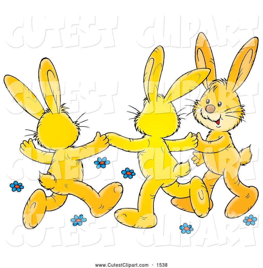 Clip art of a. Bunny clipart dancing