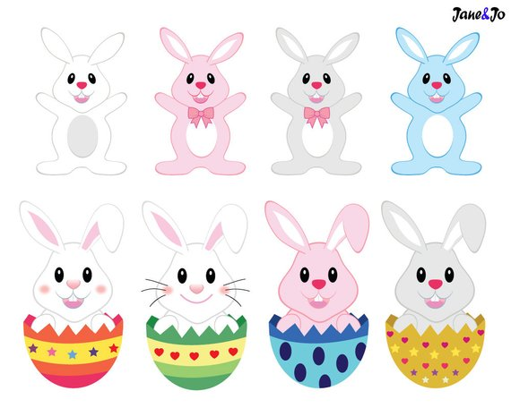 Easter clipart bunny. Sale clip art