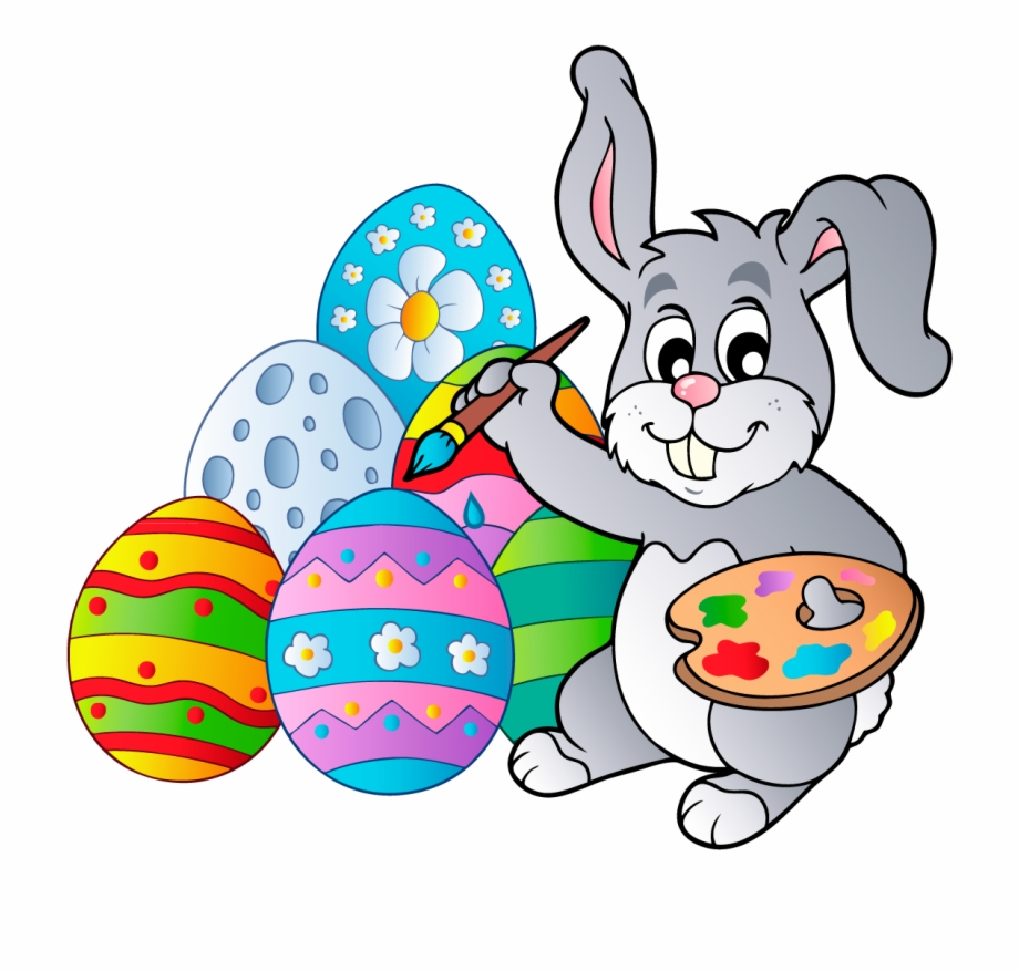 Bunny clipart easter egg. With eggs