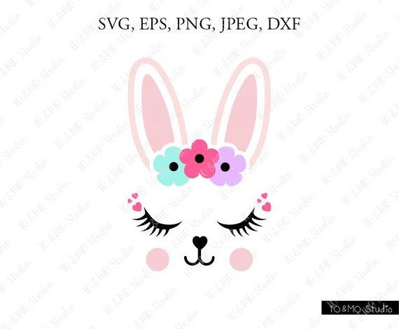 Bunnies clipart face. Bunny svg cute clip