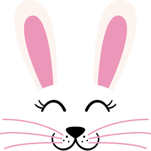 Bunnies clipart face. Silhouette design store view