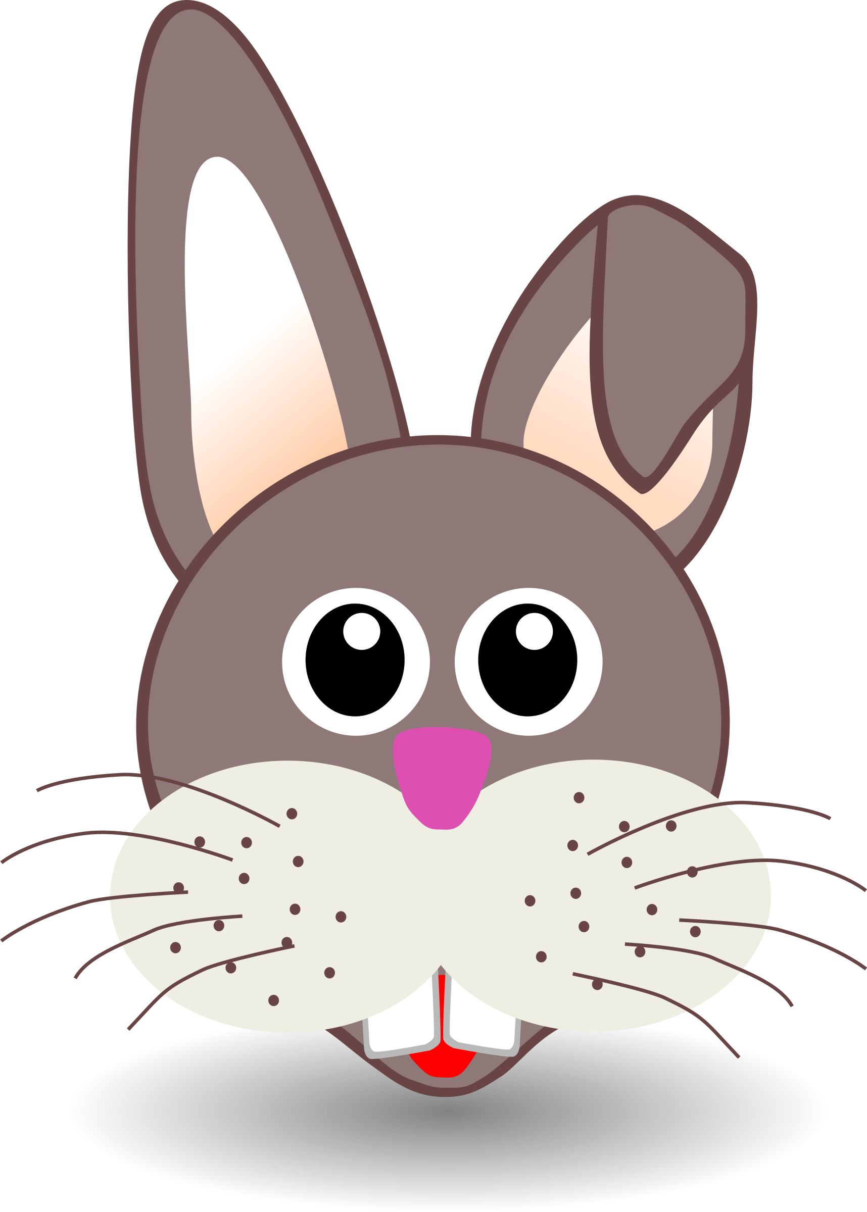 Clipart bunny face. Funny big image png