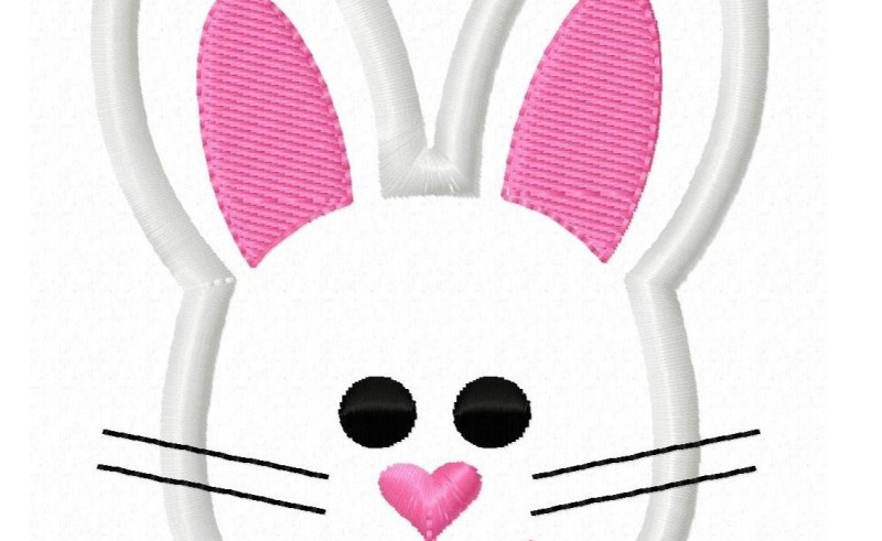 Animated rabbit beauty within. Bunnies clipart face