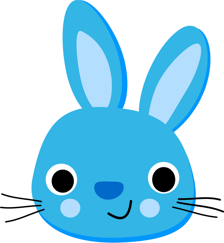 Face free . Picture clipart bunny